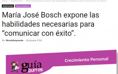 Mundo Emprende, medio número uno en emprendedores, pymes y autónomos, habla del último libro de Maria José Bosch